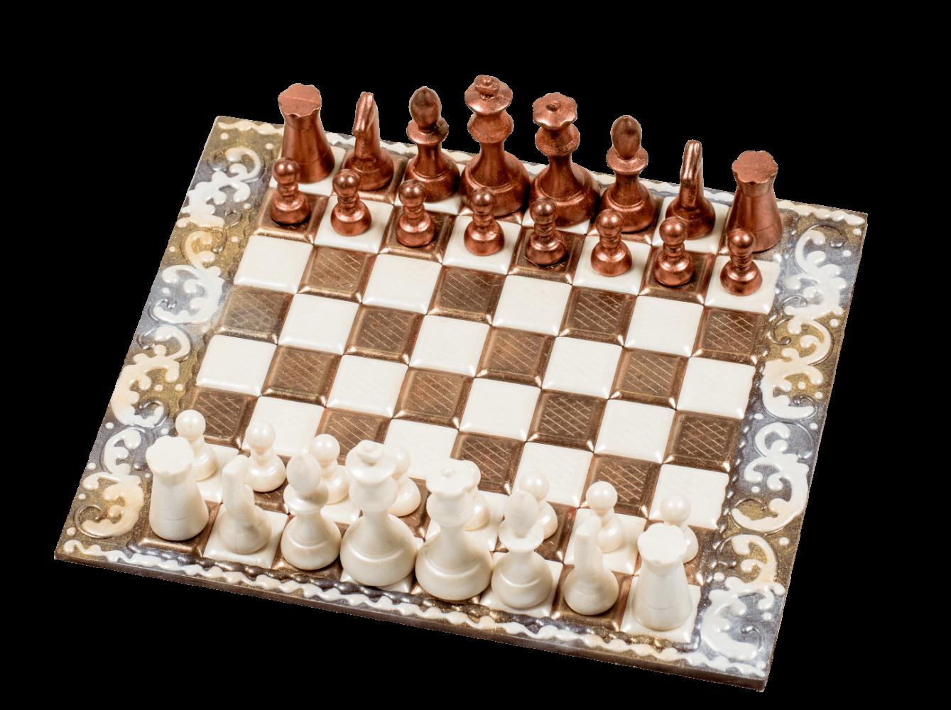 Фигурка из кондитерской глазури Шахматы 1