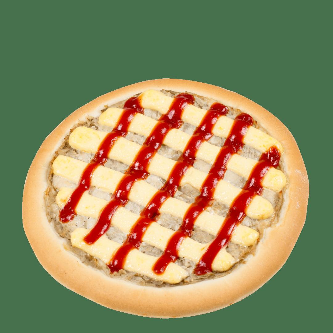 Пицца с мясом курицы и грибами 1