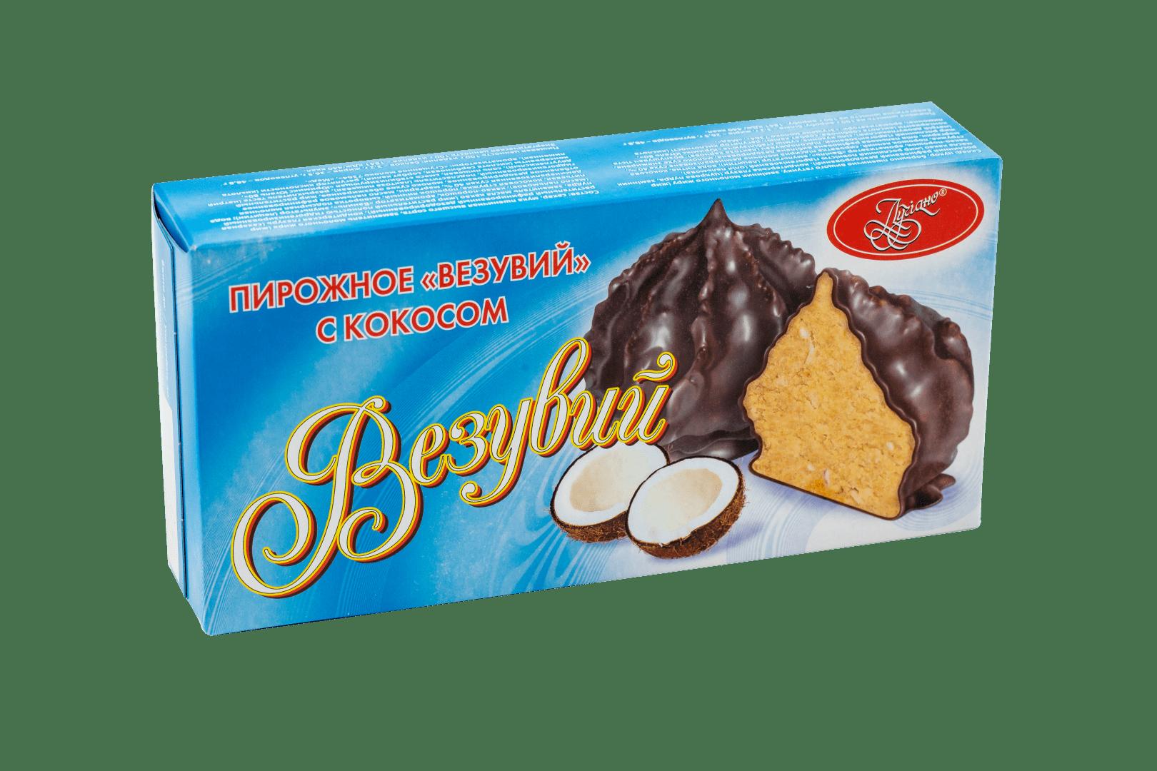 Пирожное Везувий с кокосом 1