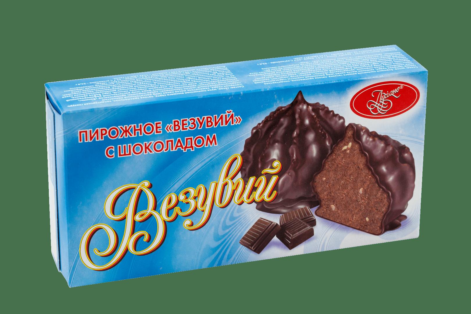 Пирожное Везувий с шоколадом 1