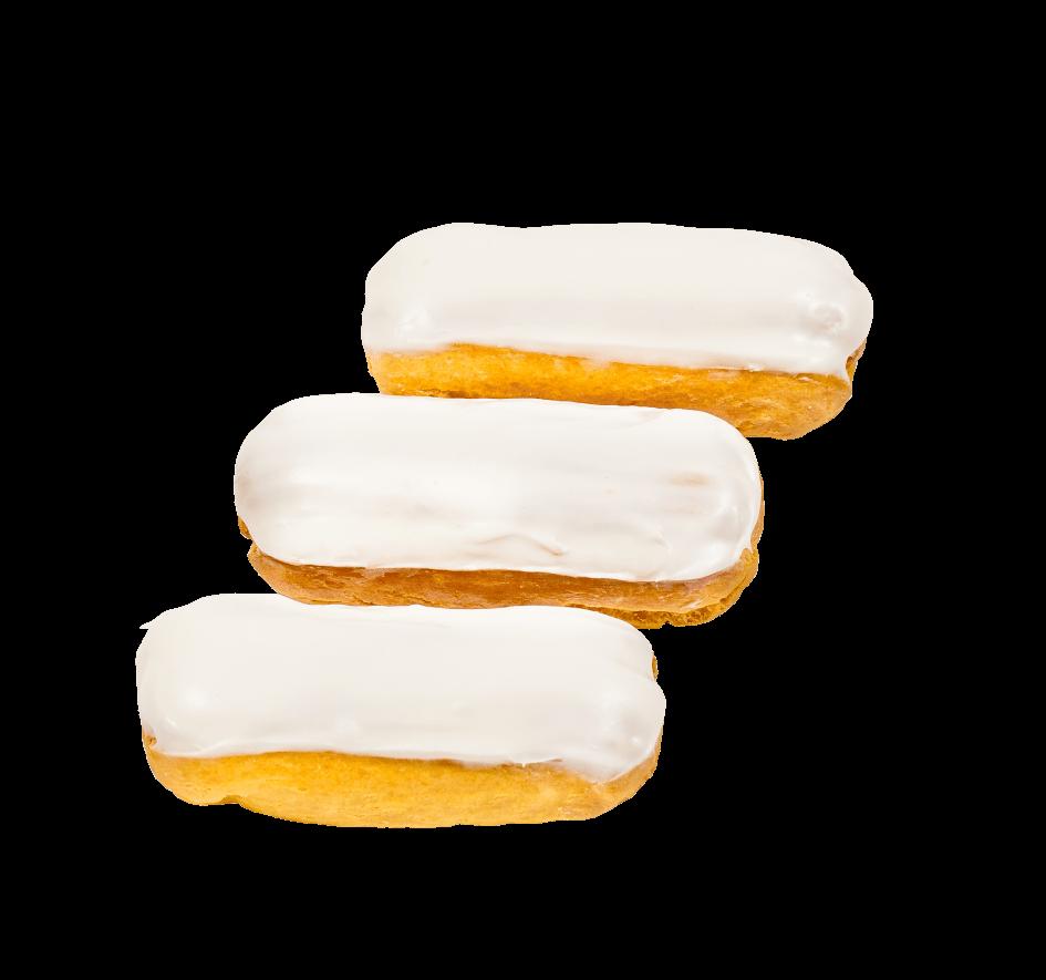 Пирожное Заварное с белой помадкой 1
