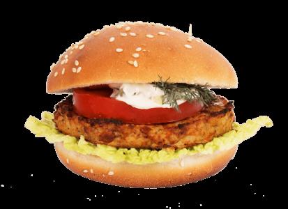 бургер фиш с соусом тар-тар