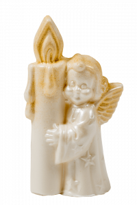 Фигурка из белой кондитерской глазури Ангелочек
