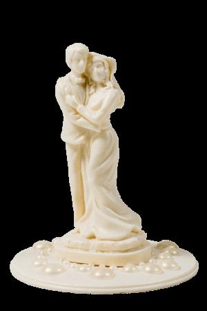 Фигурка из белой кондитерской глазури Жених и невеста
