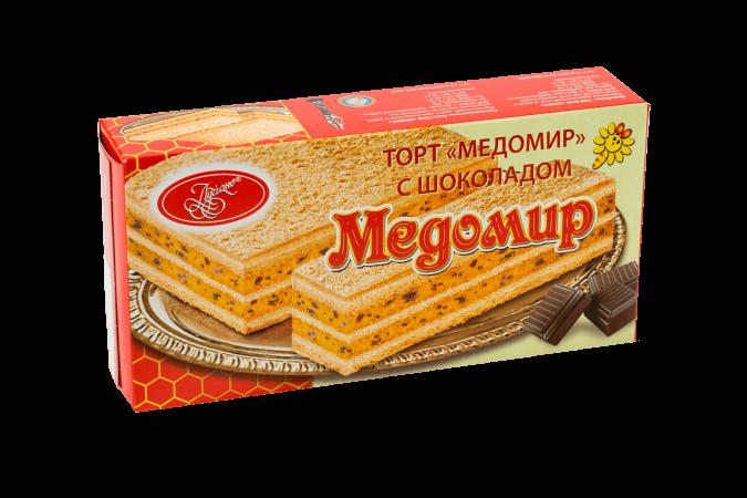 """Торт """"Медомир с шоколадом"""""""