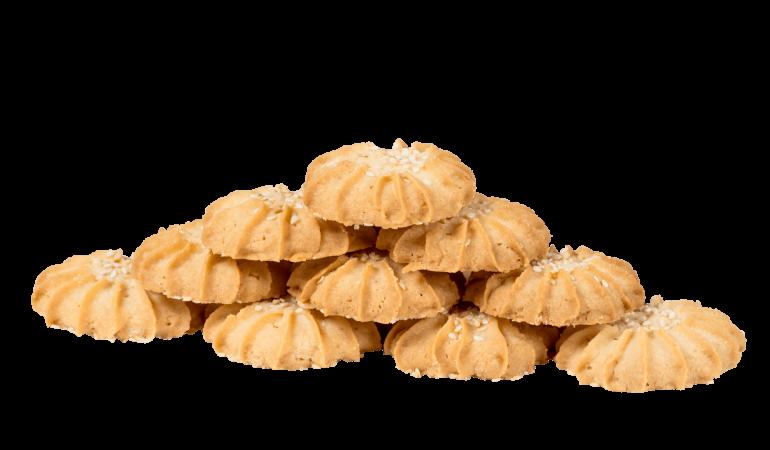 Печенье песочное с кунжутом