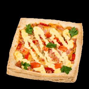 Пицца слоеная с ветчиной