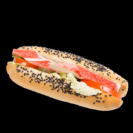 Сандвич с палочками крабовыми