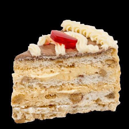 Торт Киевский с арахисом кусочек