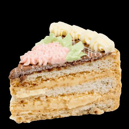 Торт Киевский с фундуком кусочек